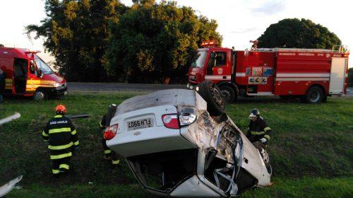 Polícia registra acidente na SP-333