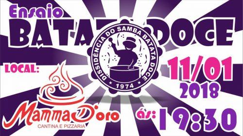 Batata Doce realiza ensaio na Mamma D'oro