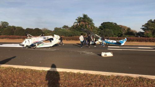Dois aviões batem durante pouso em aeroclube de Itápolis
