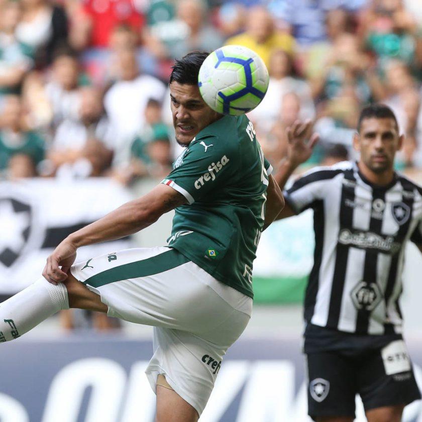 Futebol: em Brasília, Palmeiras vence Botafogo com gol de Gustavo Gómez e segue na liderança