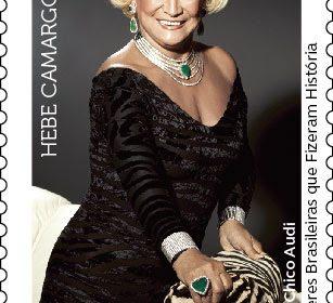 Correios homenageia Hebe Camargo, dama da TV brasileira